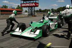 Ed Carpenter is away from the pits