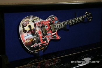 The guitar which is presented to the winner of the Firestone Indy 200