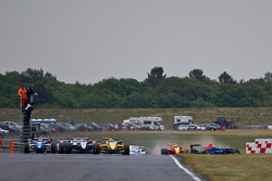 Felipe Nasr leads from the start as William Buller crashes in midfield
