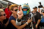 Pole winner Alex Tagliani, Sam Schmidt Motorsports celebrates with wife Bronte