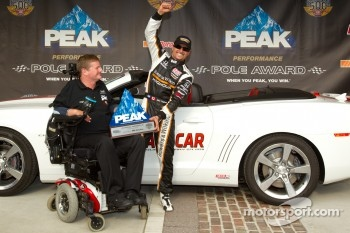Pole winner Alex Tagliani, Sam Schmidt Motorsports with team owner Sam Schmidt