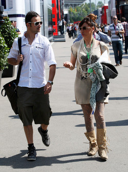 Vitantonio Liuzzi, Hispania Racing Team, HRT, The girlfriend of Vitantonio Liuzzi, Francesca Caldarell