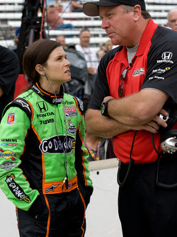 Danica Patrick, Andretti Autosport with Brian Barnhardt, President of Race Operations of IndyCar
