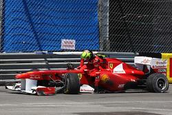 Felipe Massa, Scuderia Ferrari has a crash