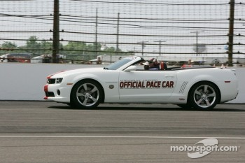A.J. Foyt drives the Chevrolet Camero Pace Car