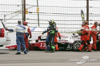 Townsend Bell, Sam Schmidt Motorsports after his crash