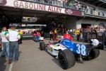 Car of Graham Rahal, Service Central Chip Ganassi Racing rolled to pitlane