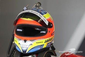 Helmet of Oliver Jarvis, Audi Sport Team Abt Audi A4 DTM