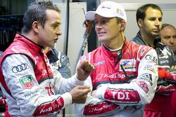 Benoit Tréluyer with Marcel Fässler after his pole winning lap