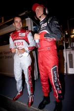 Benoit Tréluyer with Dr. Wolfgang Ullrich after his pole winning lap