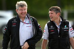 Ross Brawn Mercedes GP Petronas and Nick Fry