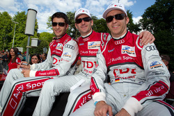 Mike Rockenfeller, Romain Dumas and Timo Bernhard