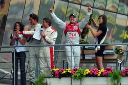 LMP1 podium: race winner Marcel Fässler