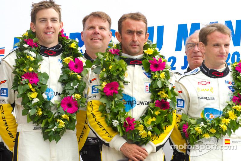 LM GTE Pro podium: class winners Olivier Beretta, Tom Milner, Antonio Garcia