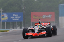 Lewis Hamilton in his McLaren MP4-23