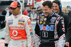 Lewis Hamilton and Tony Stewart