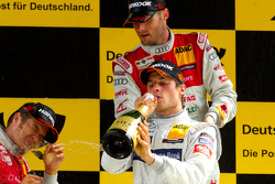 Podium: Bruno Spengler, Team HWA AMG Mercedes celebrates with champagne