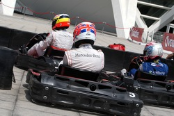Jenson Button, McLaren Mercedes and Pedro de la Rosa, Test driver, McLaren Mercedes