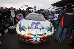 Pole winning #2 Hankook Team Farnbacher Ferrari F458 Italia GT