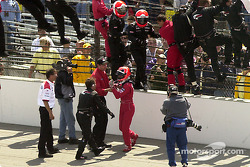 Helio, this is Indy... You have to drive to victory circle, now