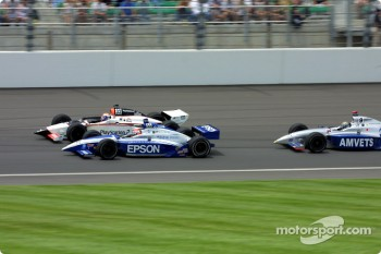 Race action: Shigeaki Hattori, Didier Andr and Jeret Schroeder