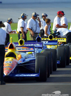 Cars in line for inspection