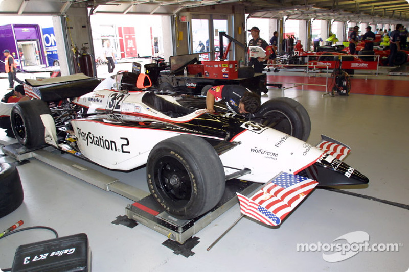 Stars and stripe on Didier André's car