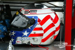 Scott Sharp's helmet