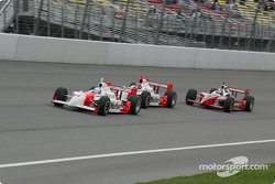 Gil de Ferran, Helio Castroneves and Al Unser Jr.