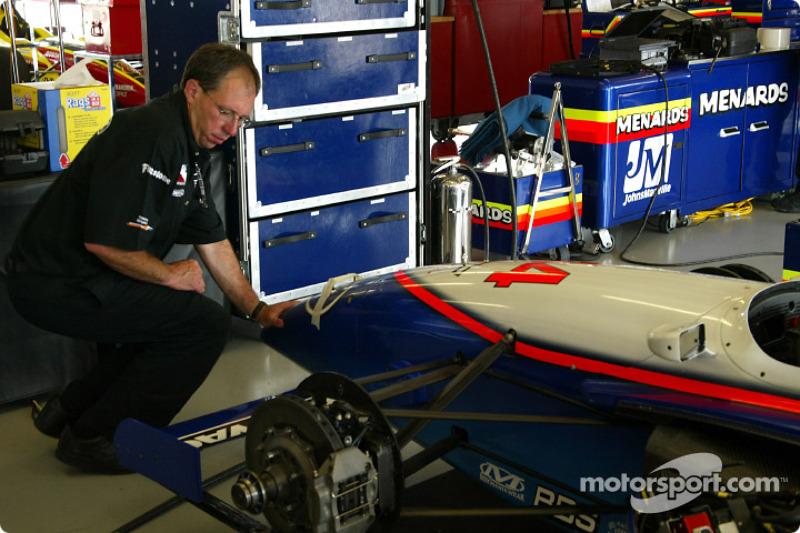 Blair Racing crew member