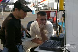 Shigeaki Hattori and A.J. Foyt IV