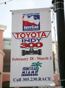 Toyota Indy Feat held in South Beach, Miami: welcome signs in South Beach