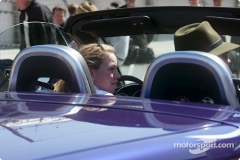 Sarah Fisher in the Chevy SSR