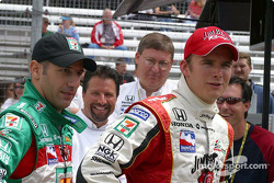 Tony Kanaan, Michael Andretti and Dan Wheldon