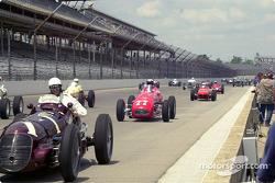 Vintage cars parade