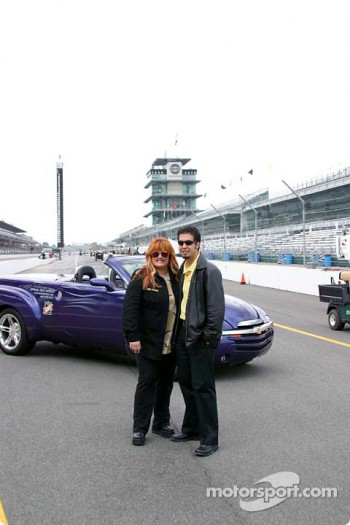 Wynonna Judd and Sam Hornish Jr.