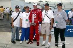 Pole winner Scott Dixon with fans
