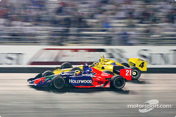 Sam Hornish Jr. gets ready to pass Felipe Giaffone