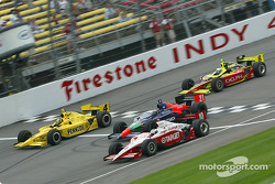 Sam Hornish Jr., Alex Barron, Tomas Scheckter and Scott Sharp