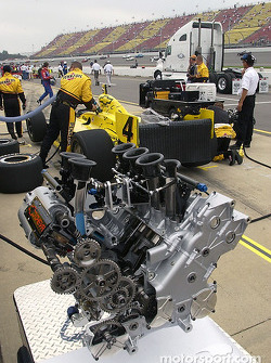Chevrolet powerplant on display