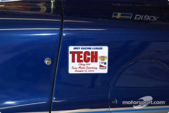 Tech label on Kenny Brack's car