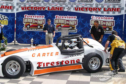 Pancho Carter arrives on victory lane