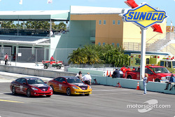 Pace cars before the race