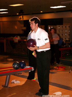 Sam Hornish Jr. at PBA Pro-Am in Indianapolis