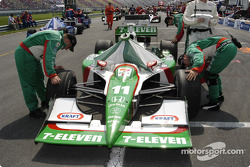 #11 Tony Kanaan Andretti Green Racing car on the grid