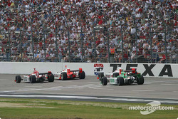 Helio Castroneves, Dan Wheldon, Sam Hornish Jr. and Tony Kanaan