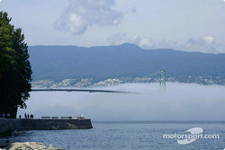 Fog and Lion's Gate Bridge