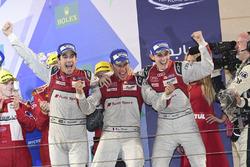 LMP1-Podium: 1. #8 Audi Sport Team Joest, Audi R18: Lucas di Grassi, Loic Duval, Oliver Jarvis