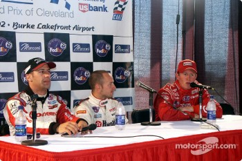 Press conference: Tony Kanaan, Cristiano da Matta and Scott Dixon