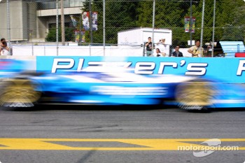 Alex Tagliani in a motion blur